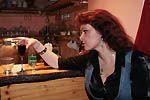 Čekání na Mira na penzionu Artharmony ubíhalo díky majiteli Vladimíru Víchovi s dobrým vínečkem velmi příjemně